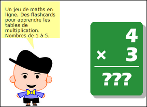 Math flashcards tables de multiplication